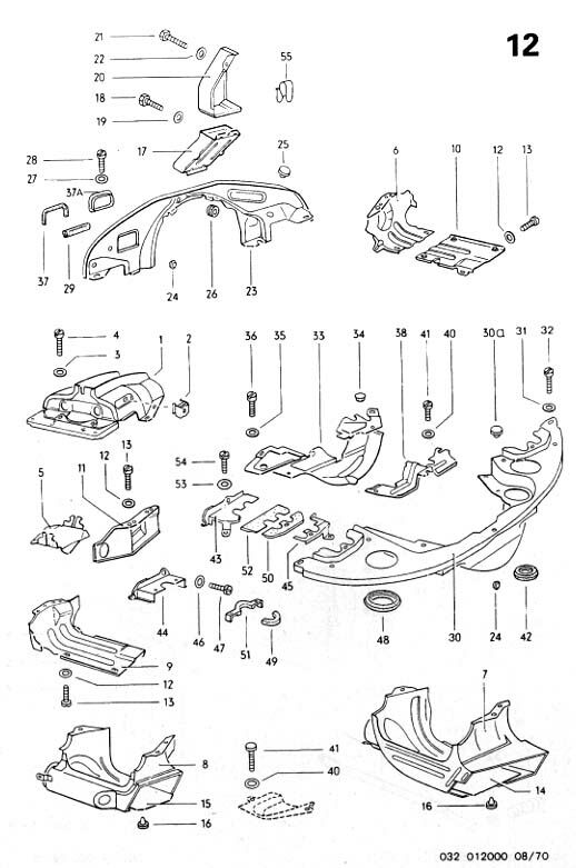 Vw Type 4 Engine Tinwear Exploded Diagram