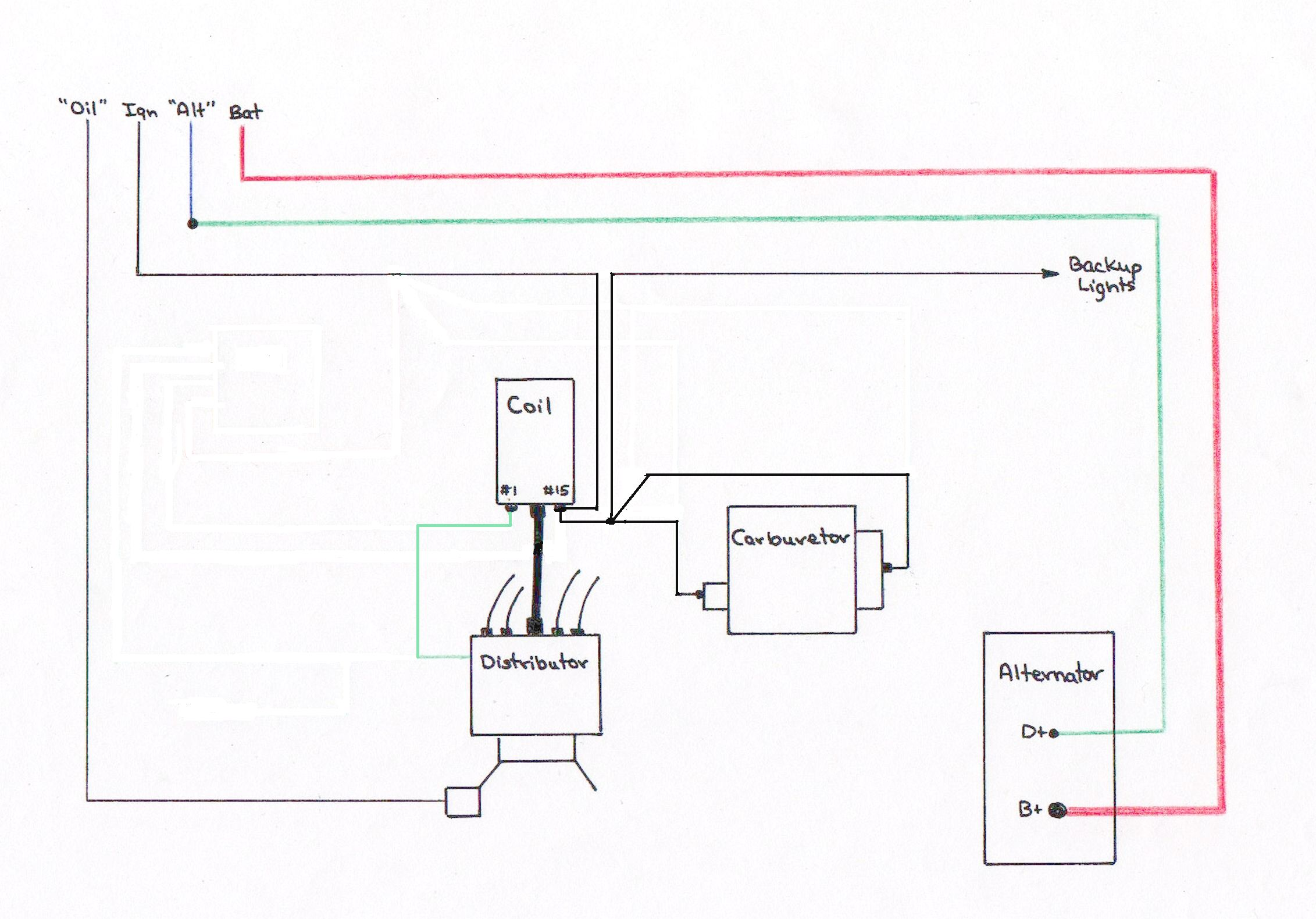 handdrawn_schematic alternator wiring external regulated alternator wiring diagram at panicattacktreatment.co