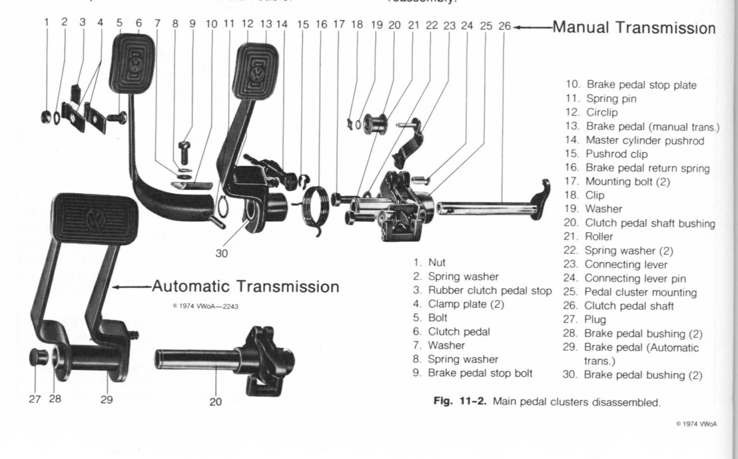 clutch cable replacement rh vw resource com vw bug clutch diagram Volkswagen Van Drawing